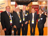 VIP Guests at the Canada Pavilion at the 2005 SME World Expo in Hong Kong
