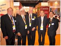 VIP Guests at the Canada Pavilion at the 2005 SME World Expo in Hong Kong